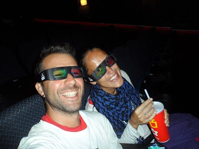 ¡Dentro del cine a veces se nos olvidaba de que estábamos dando la vuelta al mundo!