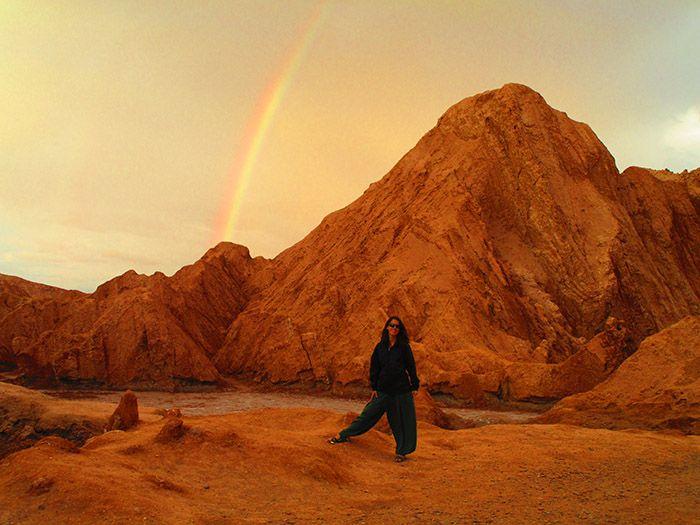 ¡Tuvimos la suerte de ver el arco iris y todo!
