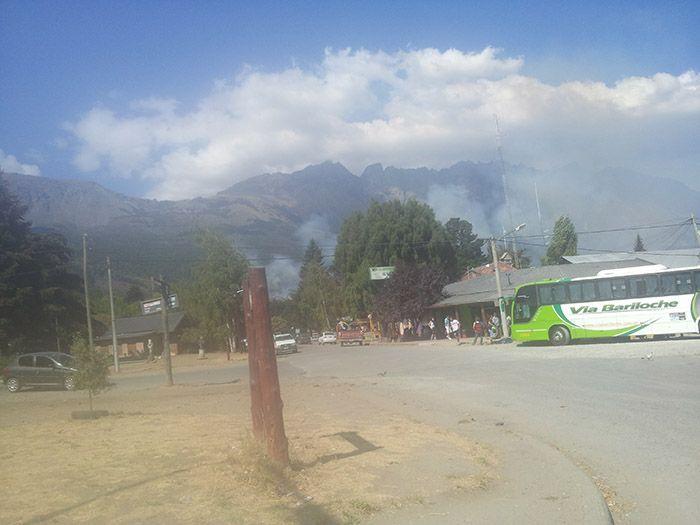 Horrible incendio en El Bolsón...