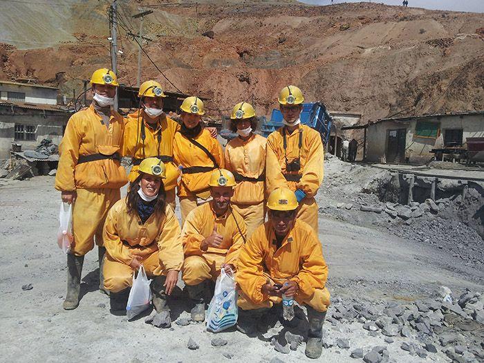 Grupo de la visita a las minas de Potosí