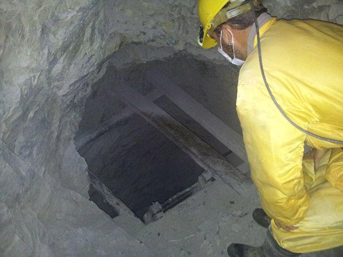 Dentro de la mina de Potosí