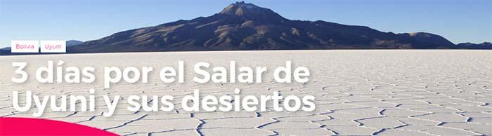 Tour del Salar de Uyuni 3 días desde Bolivia