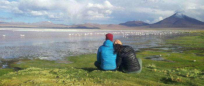 Laguna Colorada, nos hubiéramos quedado horas y horas maravillados con ése paisaje