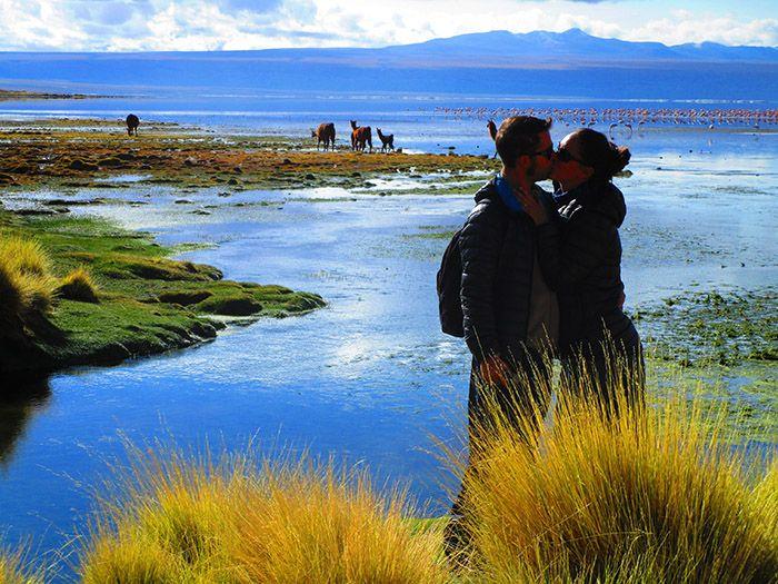 Laguna Colorada, al verla el segundo día... ¡seguíamos alucinando!