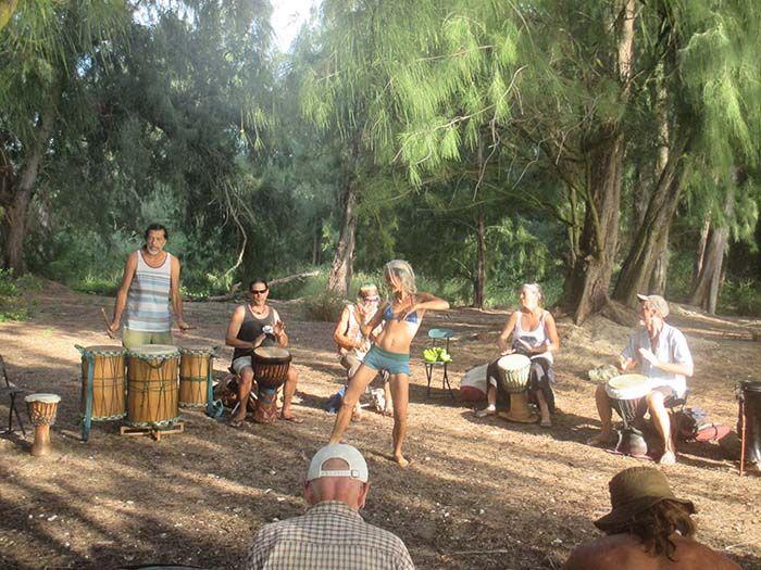 Drum cercle en Paia ¡super auténtico!