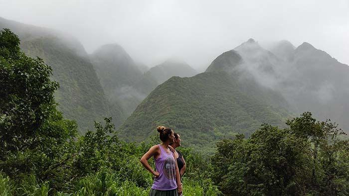 Impresionante paisaje llegando a Iao Valley