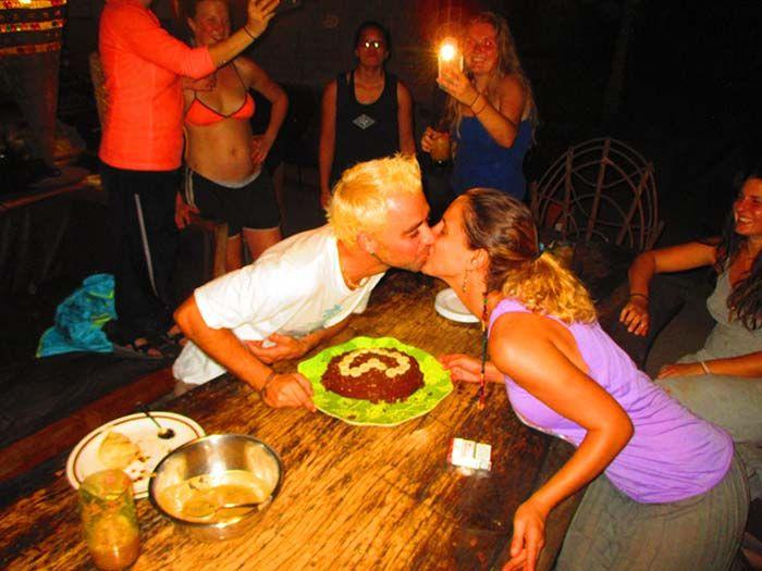La tarta que ellas mismas hicieron ¡estaba buenísima!