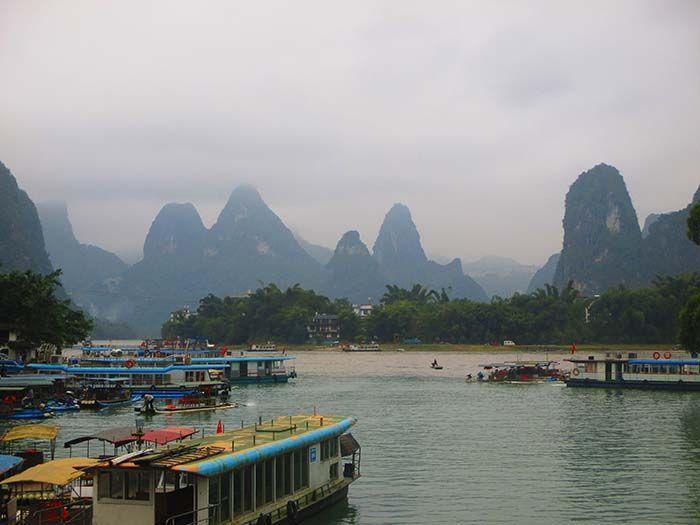 Li-River en Xing Ping, cerca de Yangshuo