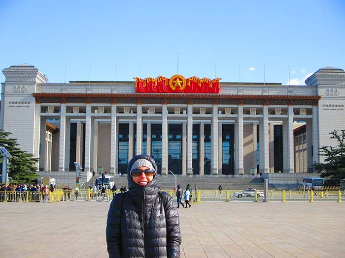 Plaza Tian'anmen en Pekín ¡que frío dios mío...!