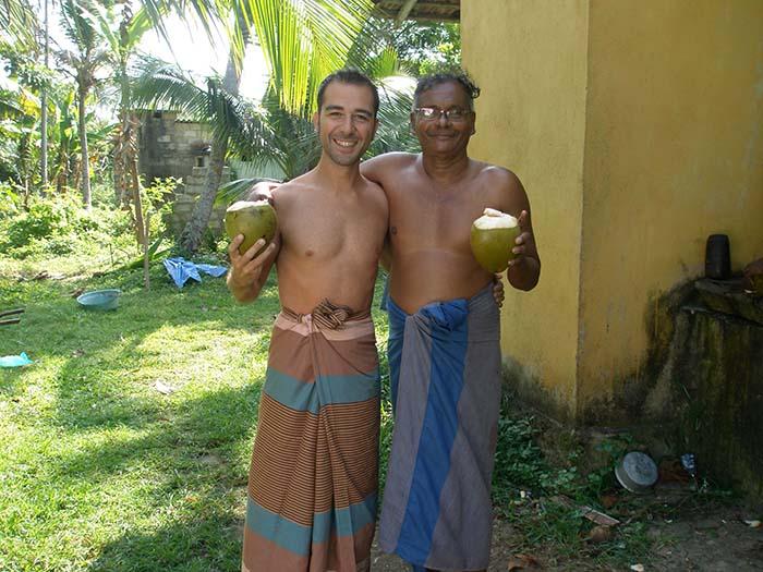 Ivan e Indra, con vestimenta de Sri Lanka