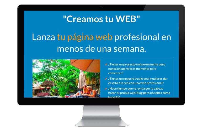 Creamos tu web - Lanzamos tu blog (PROMO). Ahórrate cientos de euros. eec86bc1e525a