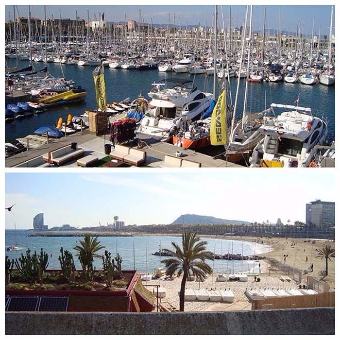 Vistas del Port Olimpic y la Barceloneta