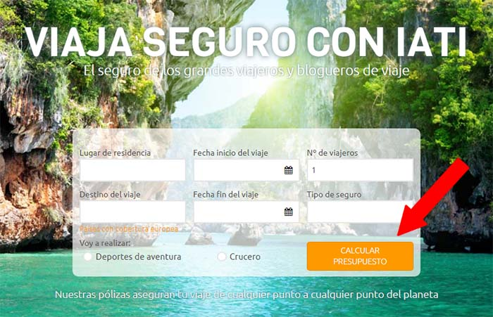 Contratar seguro de viaje online 1
