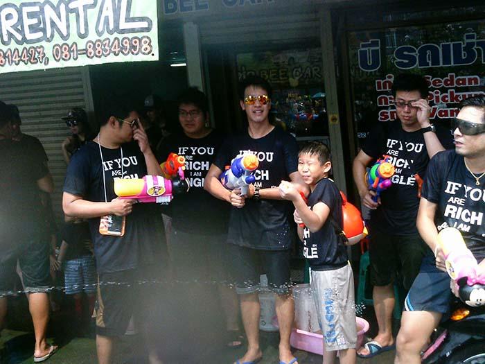 Festival del agua en Chiang Mai, Tailandia, Songkran Año Nuevo Tailandés