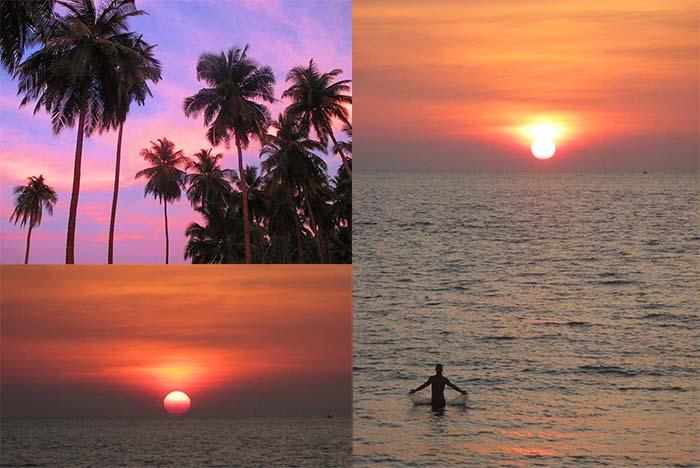 Puesta de sol en Golden Budha Beach Koh Phra Thong Tailandia
