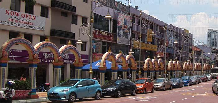 Little India en el barrio de Brickfields de Kuala Lumpur