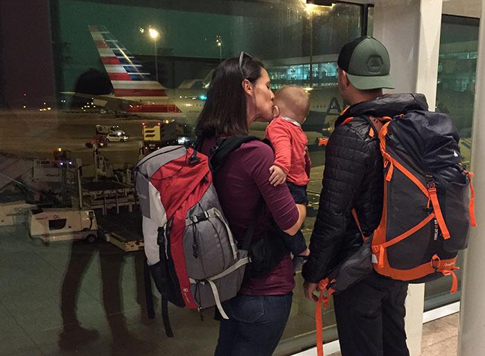 Equipaje para viajar con un bebé