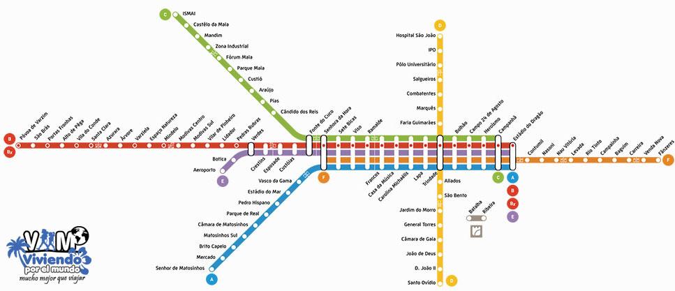 Metro de Oporto Viviendoporelmundo