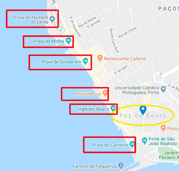 Playas de Foz Do Douro Viviendoporelmundo