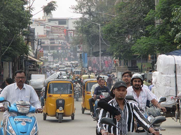 Tráfico en Hyderabad Viviendoporelmundo