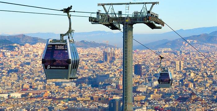 Top 10 de actividades en Barcelona. Telefèric de Montjuïc