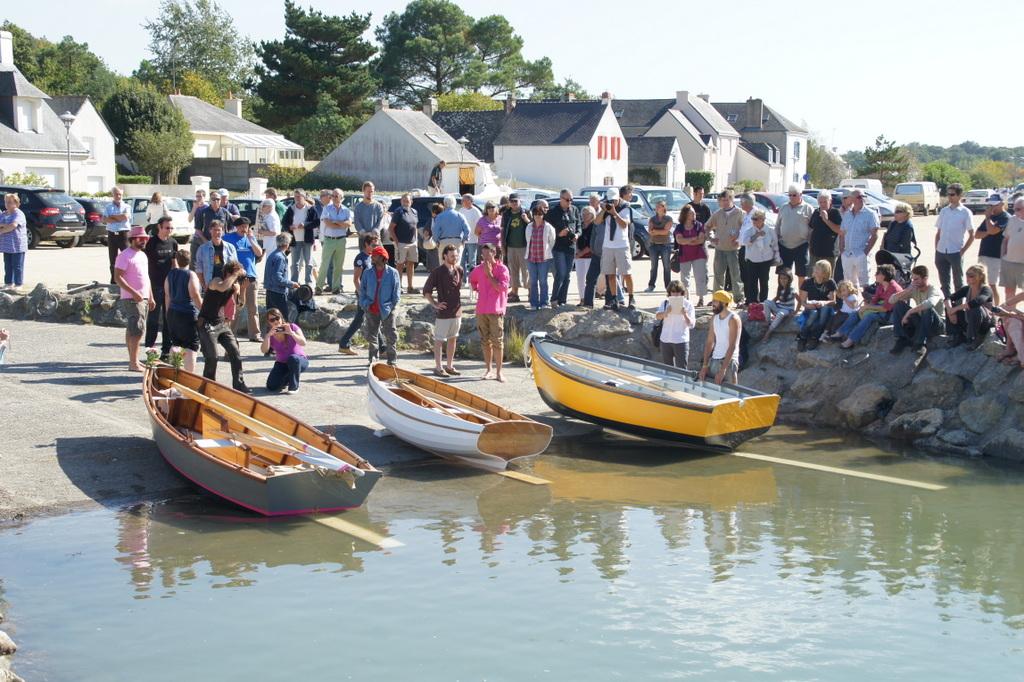 Mise à l'eau des bateaux construits par la première promotion