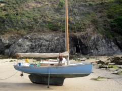 Pen-Hir, premier du nom à l'échouage sur la côte Sud de Belle-Ile