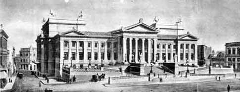 Palazzo Legislativo di Montevideo disegno di Meano