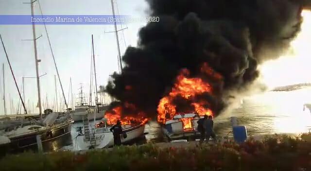 Incendio en la Marina de Valencia