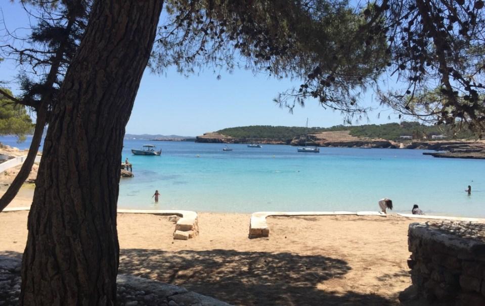 Cala Bassa Ibiza desde tierra