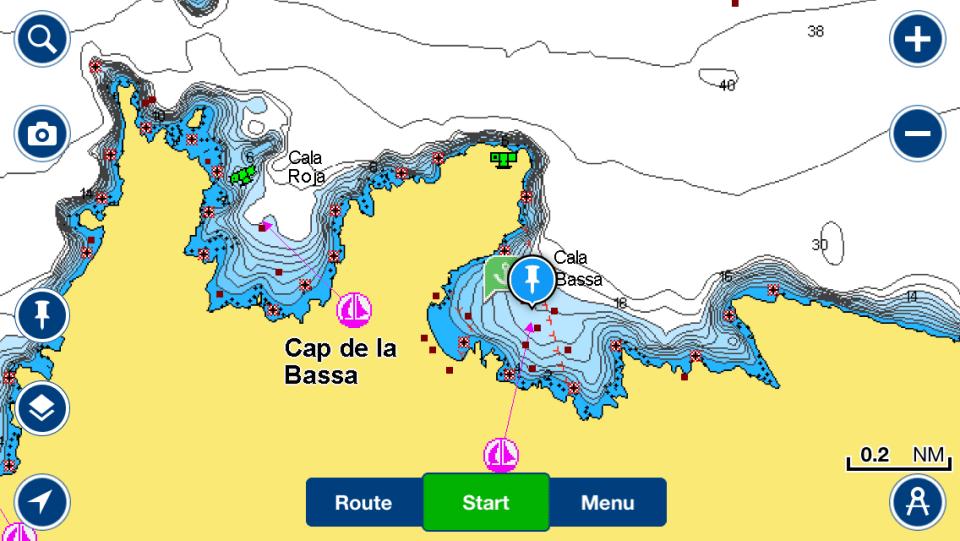 Navegar Cala Bassa Ibiza Navionics