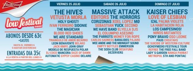 Grupos Low Festival Benidorm
