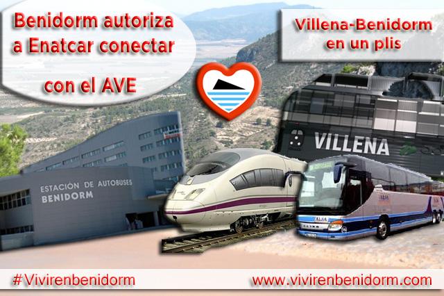 Benidorm autoriza a Enatcar conectar con el AVE de Villena.