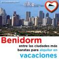 Benidorm entre las ciudades mas baratas para alquiler