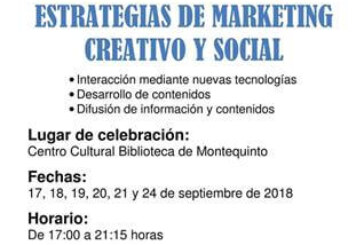 "Curso presencial: ""Estrategias de marketing creativo y social"""