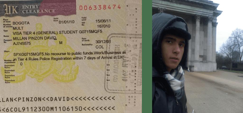 Visa y selfie