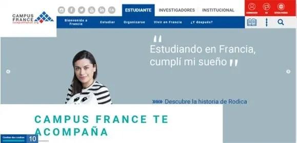 página oficial de campus france