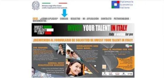 becas invest your talent in italy