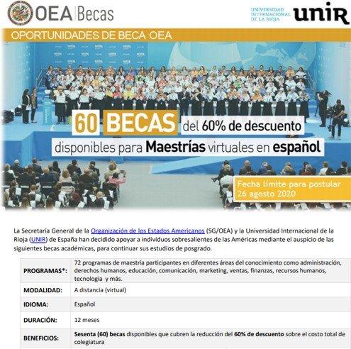 BECAS OEA 2