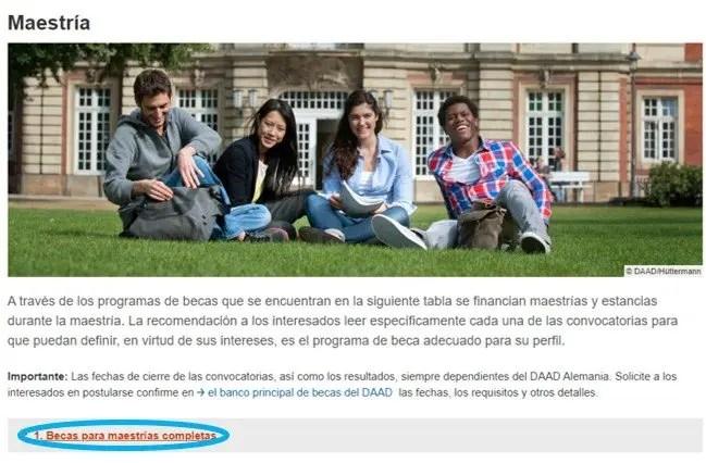 DESCRIPCIÓN PROGRAMA DE CONVOCATORIAS PARA MAESTRÍA BECA HELMUT