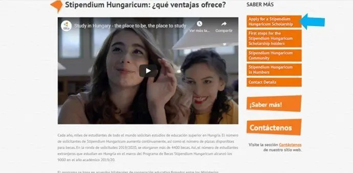encontrar becas stipendium hungaricum