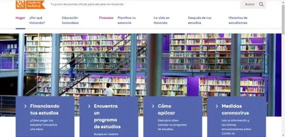 ingresar a la pagina web de study in holland
