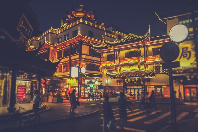 Vivir en China de noche
