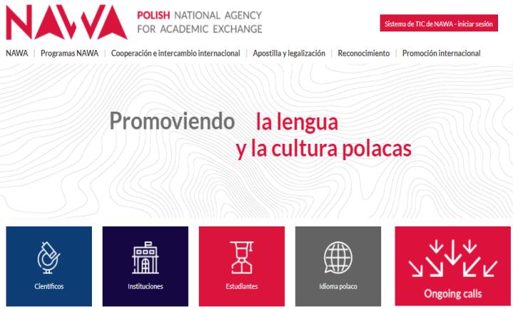 Página web NAWA