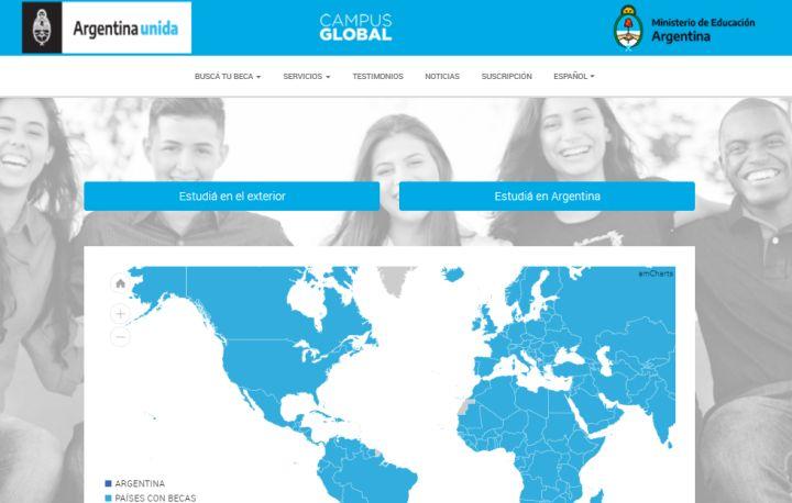 Sitio web oficial de Campus Global.