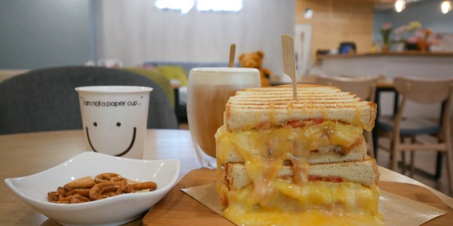 [桃園美食]Lazy Brunch 慵懶早午餐|永康公園附近新開早午餐~平價熱壓爆漿熔岩三明治 @VIVIYU小世界