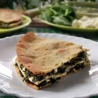 Σπανακόπιτα εύκολη και γρήγορη με φύλλα τορτίγιας χωρίς γλουτένη