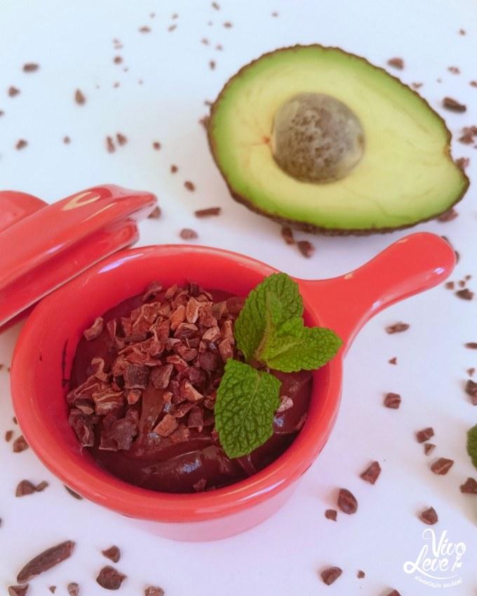 Resultado de imagem para mousse de chocolate abacate