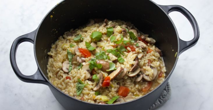 recept vegan risotto