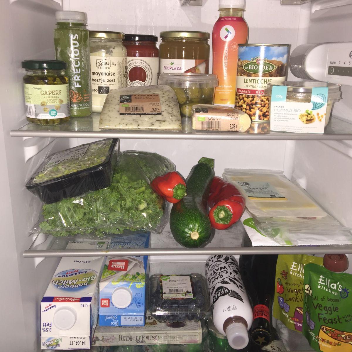 Dit staat er in mijn koelkast